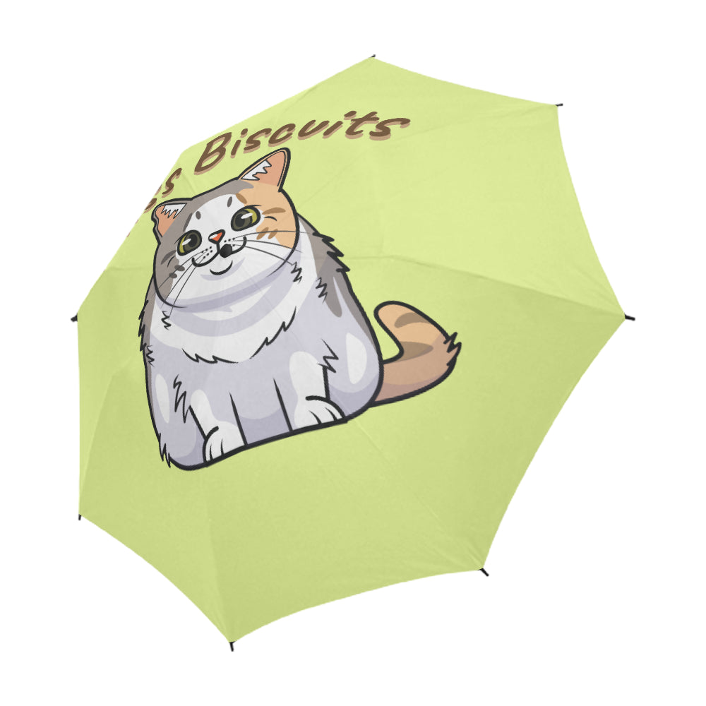 Miss Biscuits Semi-Automatic Foldable Umbrella