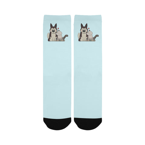 HarPURR and Cinder Custom Socks