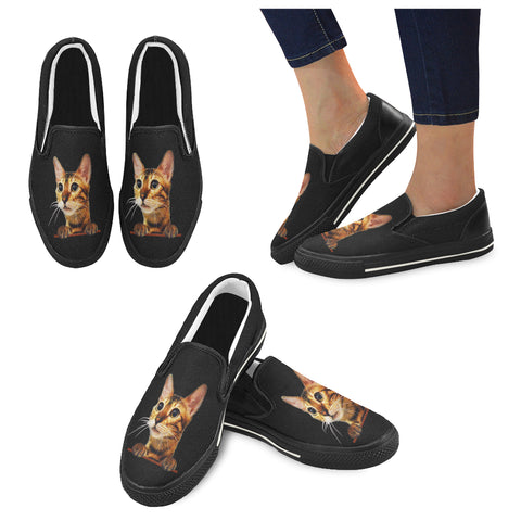 Simba the Bengal Women's Slip-on Canvas Shoes