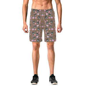 Rollie and Flowers Men's All Over Print Elastic Beach Shorts