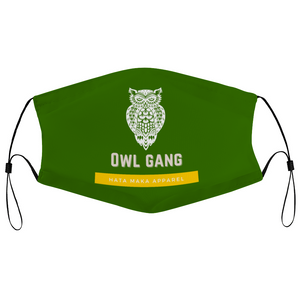 Hata Maka Owl Gang Green Face Masks