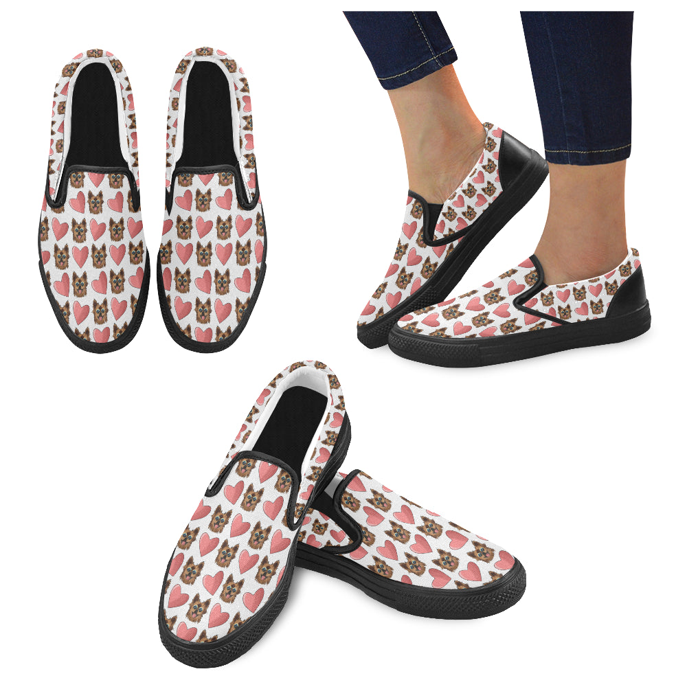 Chewie Love Pattern Women's Slip-on Canvas Shoes