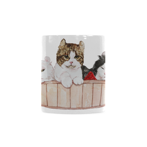 Ameria the Cat White Mug(11OZ)-White Mug-One Size-Kucicat