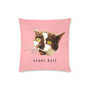 "Fierce Scoot Butt Custom Zippered Pillow Case 16""x16""(Twin Sides)"