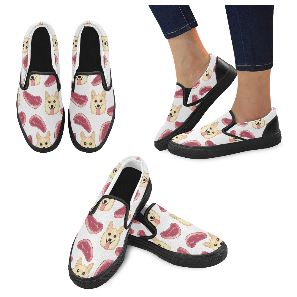 Gen The Corgi Women's Slip-on Canvas Shoes