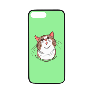 "Rexie Cat I live For Tongue Out Tuesday iPhone Case-iphone case-One Size-Rexie Cat I live For Tongue Out Tuesday Rubber Case for iPhone 7 plus (5.5"")-Kucicat"