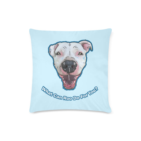 "Mayor Roo Zippered Pillow Case 16""x16""(Twin Sides)"