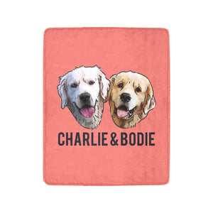 "Charlie and Bodie Limited Edition Ultra-Soft Micro Fleece Blanket 40""x50"""