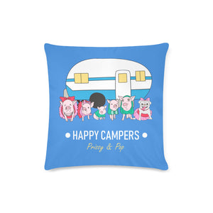 "Prissy & Pop Happy Campers Zippered Pillow Case 16""x16""(Twin Sides)"