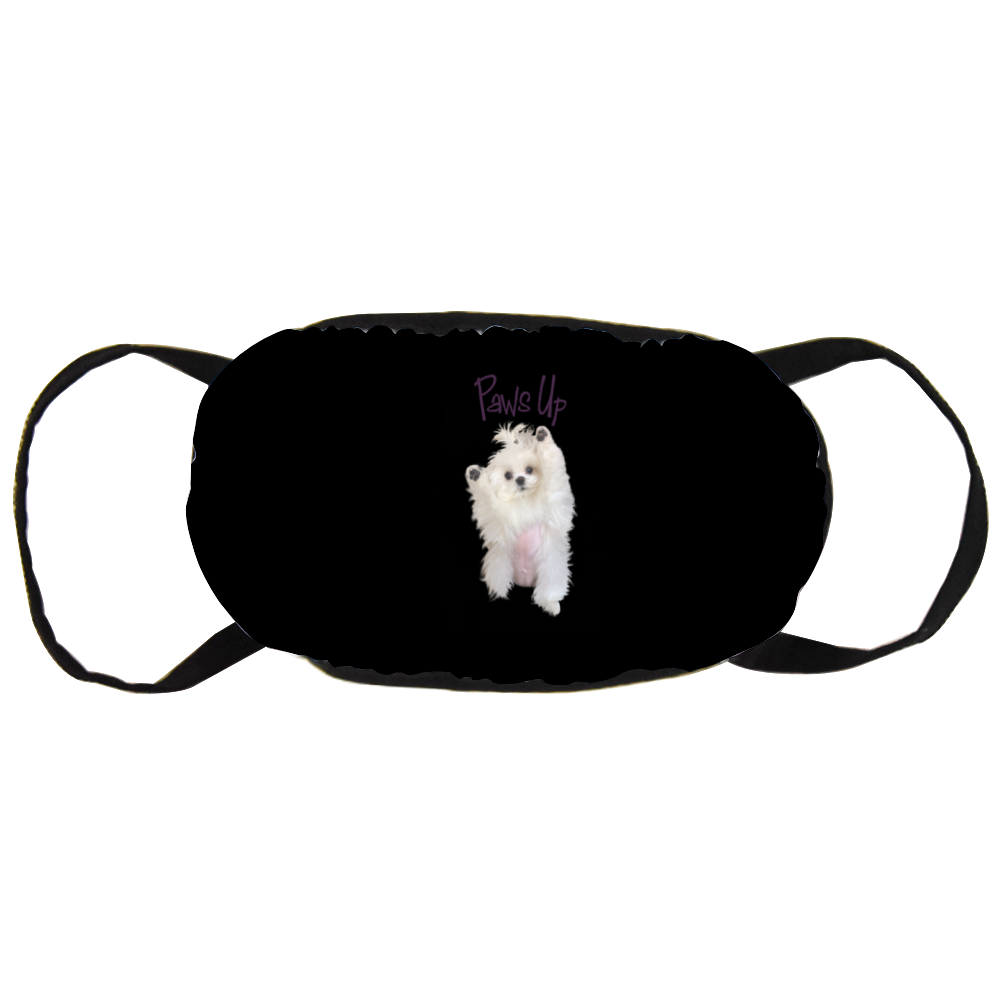 Coco The Maltese Dog  Paws Up Official Face Mask
