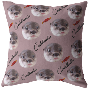 "Cartel The Otter Official Zippered Pillow Case 16""x16"" (One Sided)"