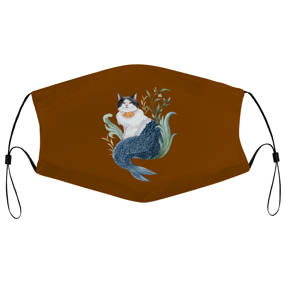 Watercatlor Zodicat Capricorn Official Face Mask