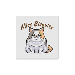 "Miss Biscuits Canvas Print 16""x16"""