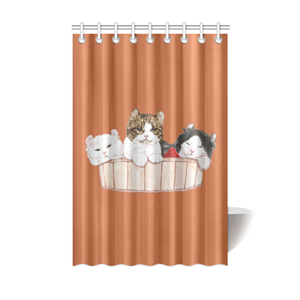 "Ameria the Cat Shower Curtain 48""x72""-Shower Curtain 48""x72""-One Size-Kucicat"