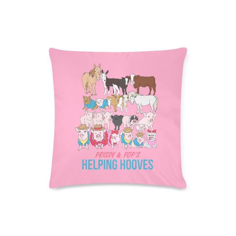 "Prissy & Pop's Helping Hooves Official Zippered Pillow Case 16""x16""(Twin Sides)"