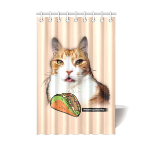 "Taco Tongue Tuesday Shower Curtain 48""x72"""