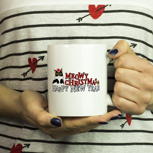 Meowy Christmas and Happy New Year Cat Mug-Drinkware-Meowy Christmas and Happy Mew Year 2-Kucicat