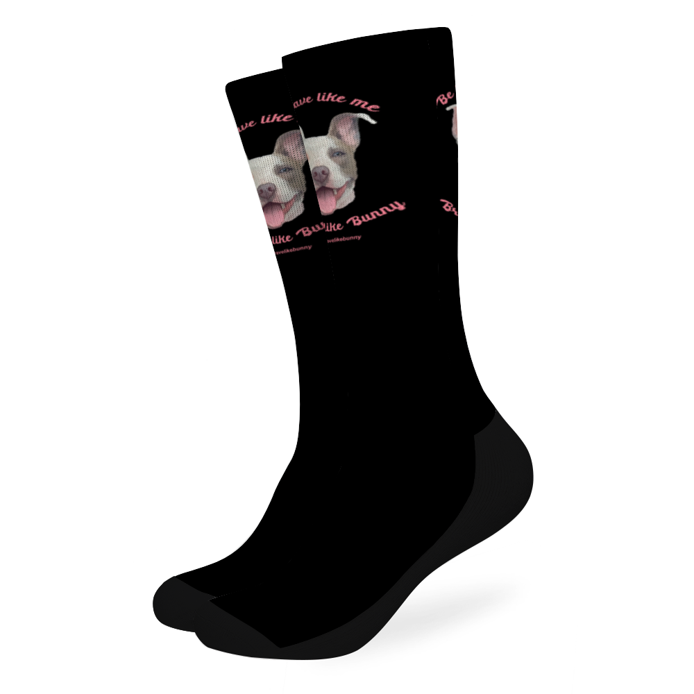 Cute Bunny - Brave Like Me, Brave Like Bunny Official Socks