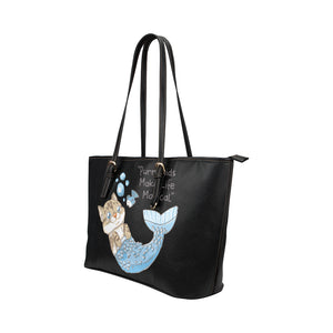 Roo Purrmaids Leather Tote Bag/Small-Kucicat
