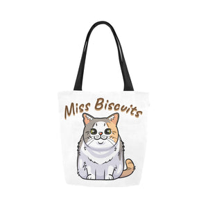 Miss Biscuits Canvas Tote Bag-Kucicat