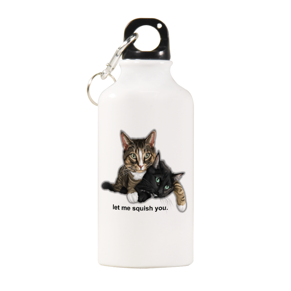 Mimo and Kirry Official Sports Water Bottle White Color 13.5oz