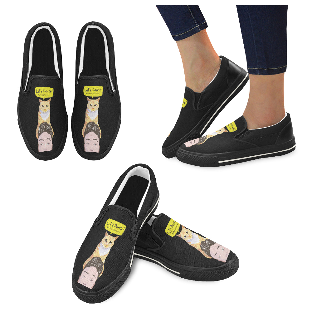 Peek a Boo Women's Slip-on Canvas Shoes