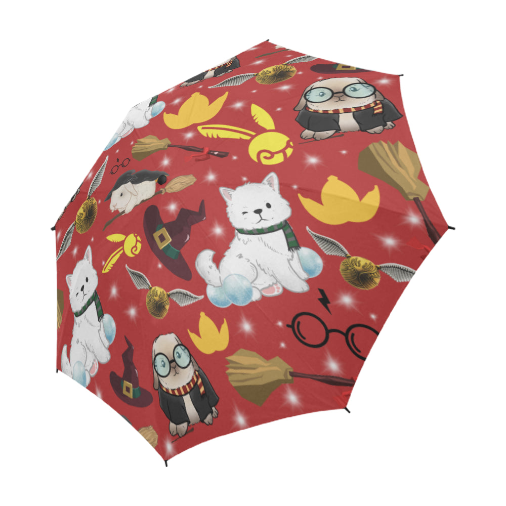 Professor Poppet Official Semi-Automatic Foldable Umbrella
