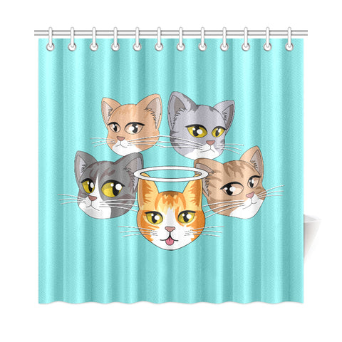 "The Taco Squad Shower Curtain 72""x72"""