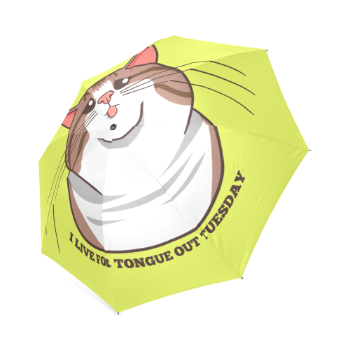 Rexie Cat I Live For Tongue Out Tuesday Foldable Umbrella