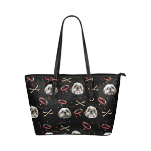 King Binky and Bones Leather Tote Bag/Small-Kucicat