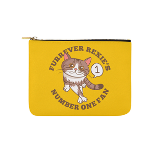 "Furrever Rexie's Number One Fan Pouch-Accessory Pouches-8"" x 6""-Furrever Rexie's Number One Fan Carry-All Pouch 8''x 6''-Kucicat"