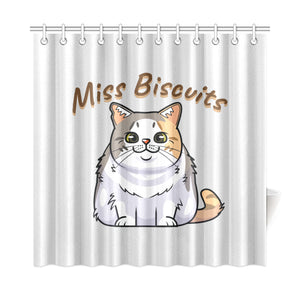 "Miss Biscuits Shower Curtain 72""x72"""