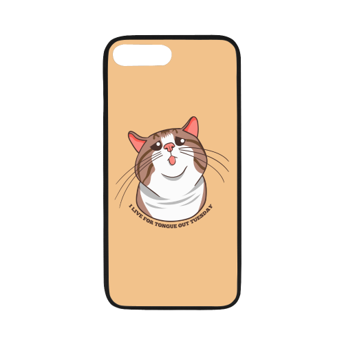 "Rexie Cat I live For Tongue Out Tuesday iPhone Case-iphone case-One Size-Rexie Cat I live For Tongue Out Tuesday Rubber Case for iPhone 8 plus (5.5"")-Kucicat"
