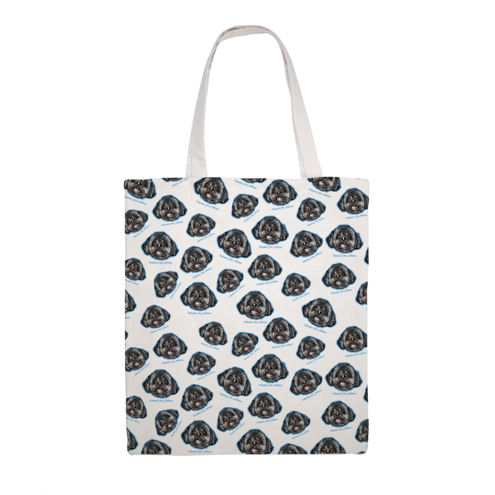 Dexter The Shihtzu All Over Official Canvas Tote Bag