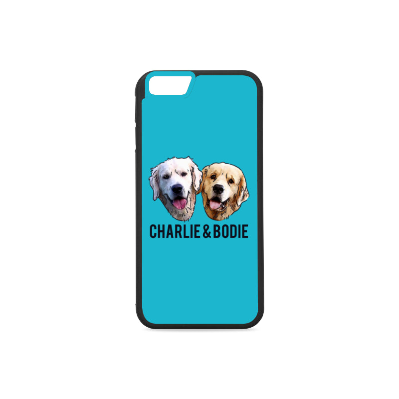 Charlie and Bodie Rubber Case for iPhone