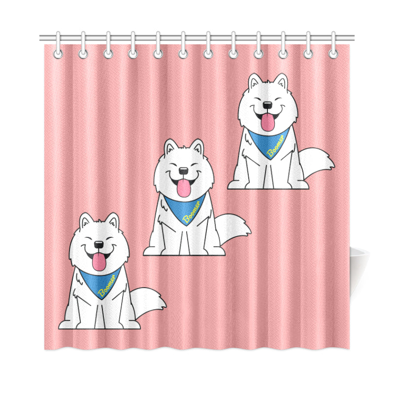 "Boomer Shower Curtain 72""x72"""