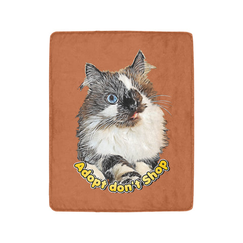 "Cricket Adopt Don't Shop Limited Edition Ultra-Soft Micro Fleece Blanket 40""x50"""