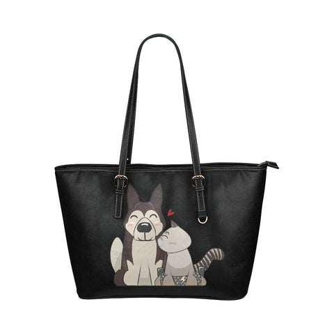 HarPURR and Cinder Vegan Leather Tote Bag-Kucicat