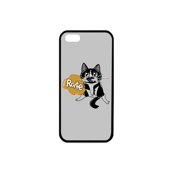 Rollie Cat Various iPhone Cases Collections-Phone Case-One Size-Rollie Rubber Case for iPhone 5/5s-Kucicat