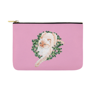 Coco Cat Watercolor Design Pouch
