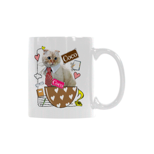 Coco in Office White Mug(11OZ)-White Mug-One Size-Kucicat