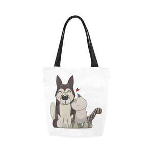 HarPURR and Cinder Canvas Tote Bag-Kucicat
