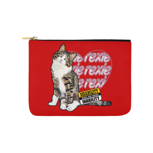 Disability does not Mean Inability Pouch-Accessory Pouches-8''x 6''-Rexie Cat - Disability doesn't Mean Innability Carry-All Pouch 8''x 6''-Kucicat