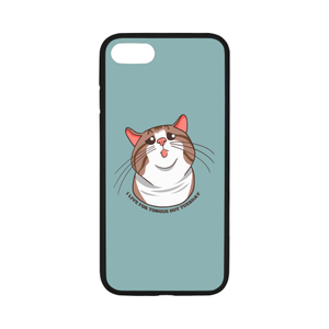 "Rexie Cat I live For Tongue Out Tuesday iPhone Case-iphone case-One Size-Rexie Cat I live For Tongue Out Tuesday Rubber Case for iPhone 7 4.7""-Kucicat"