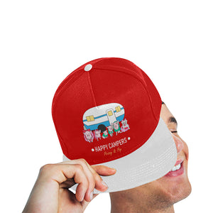 Prissy & Pop Happy Campers All Over Print Snapback Hat