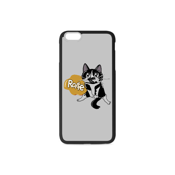 Rollie Cat Various iPhone Cases Collections-Phone Case-One Size-Rollie Rubber Case for iPhone 6/6s Plus-Kucicat
