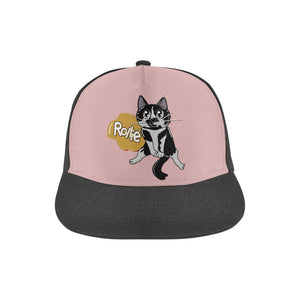 Rollie Cat All Over Print Snapback Hat-All Over Print Snapback Hat-One Size-Kucicat