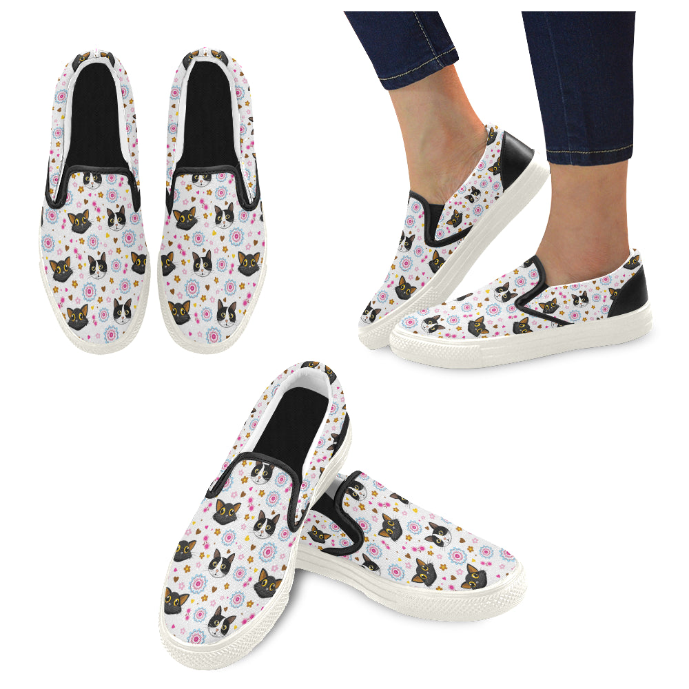 King Bob and Tayto Floral Women's Slip-on Canvas Shoes