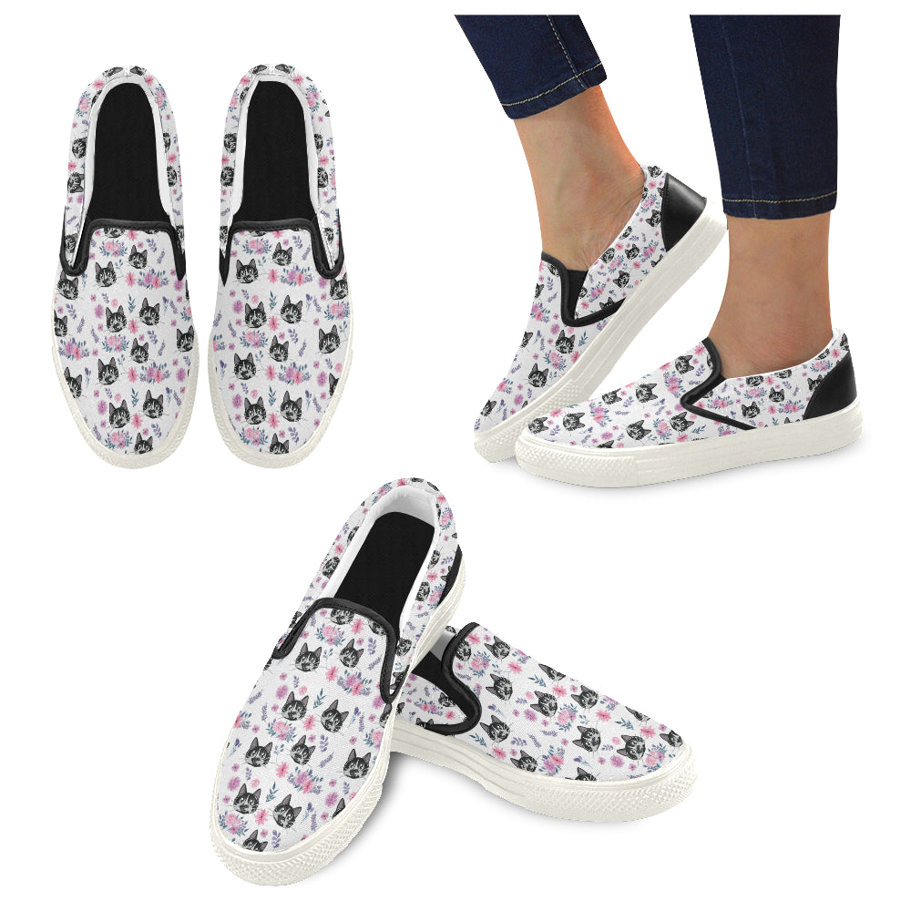 Rollie and Flowers Women's Slip-on Canvas Shoes