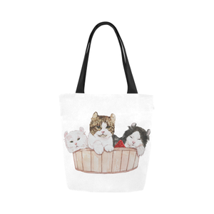 Ameria the Cat Canvas Tote Bag-Kucicat